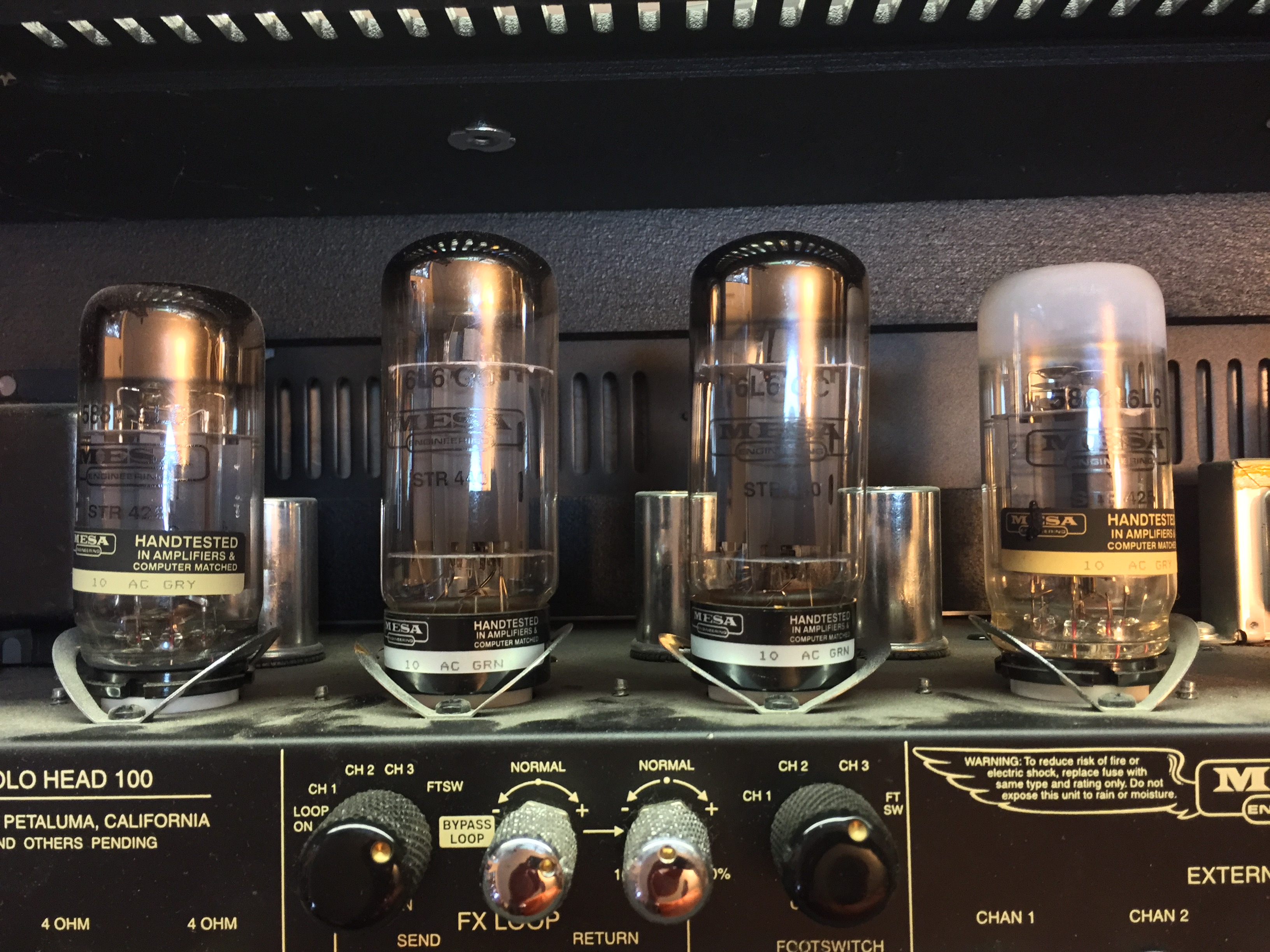 Even Mesa-Boogie amps can blow tubes